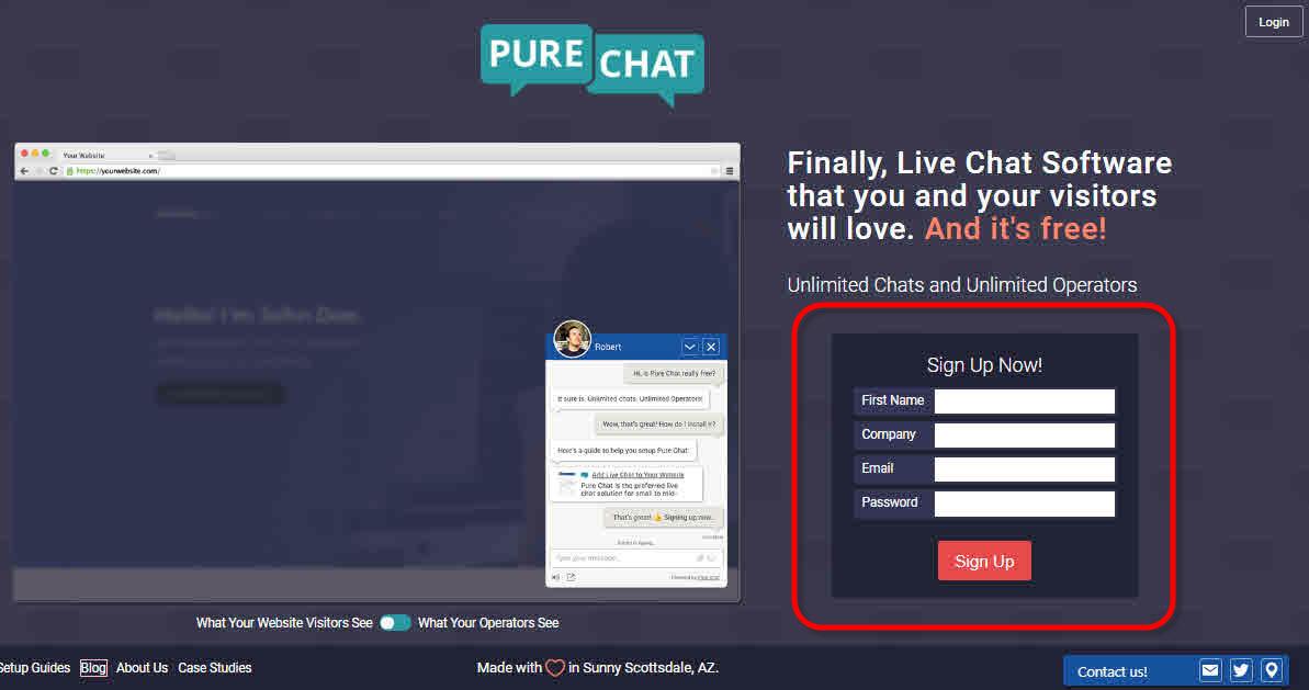 معرفی ابزار پشتیبانی آنلاین رایگان purechat.com - سایت ساز و فروشگاه ساز پوپش