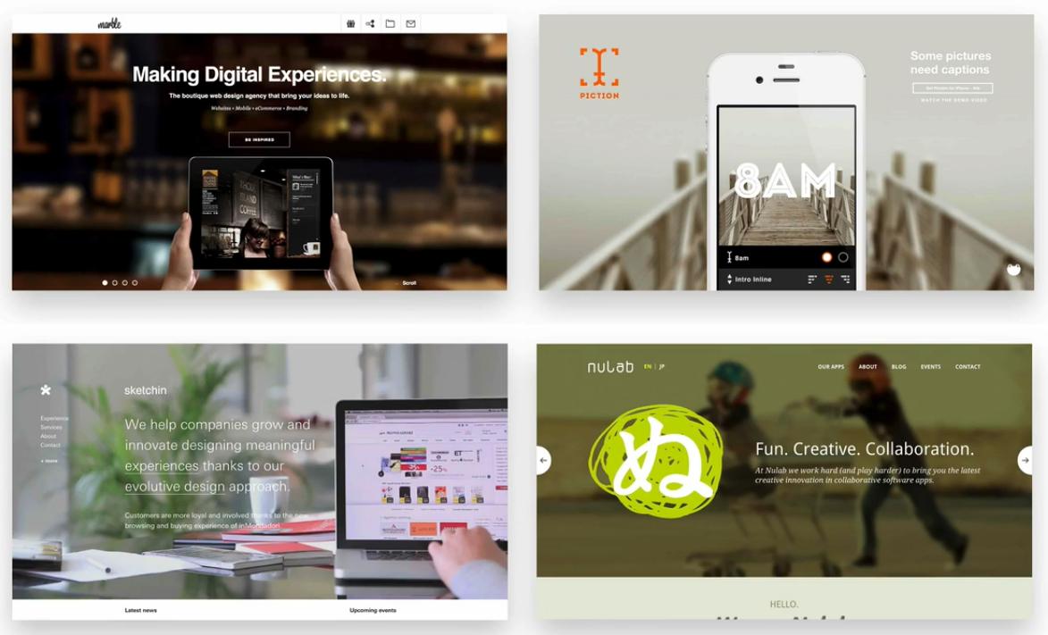 چند نمونه از قرار گیری متن بر روی تصاویر تار شده - سایت ساز و فروشگاه ساز پوپش
