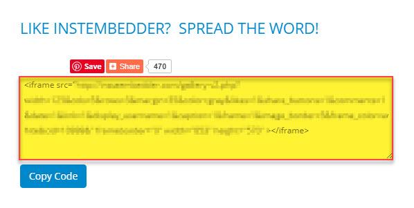 کد اسکریپت نمایش پست های اینستاگرام در سایت