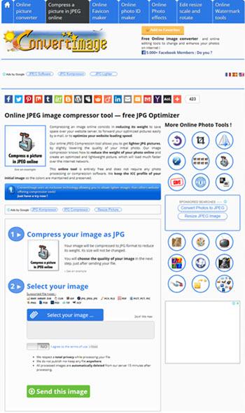 ابزار فشرده ساز تصویرconvertimage.net :