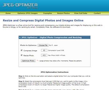 فشرده سازی تصاویر با ابزار ابزار jpeg-optimizer.com