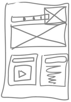 web wireframe sketch